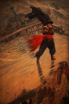 De vliegende Hollander, Howard Pyle, 1900 van Atelier Liesjes