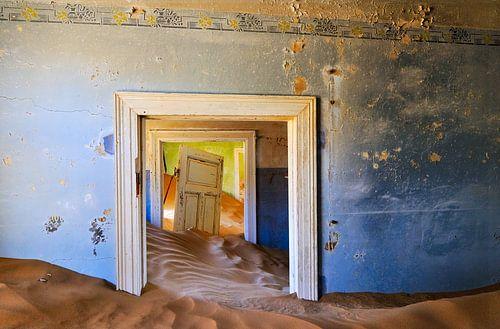 Verval van de blauwe en groene kamer