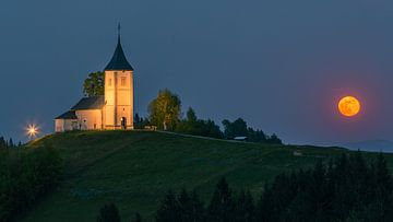 Jamnik Church, Slovenia van Henk Meijer Photography