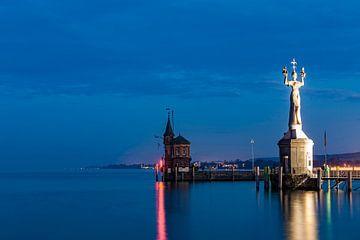 Constance au Lac de Constance la nuit sur Werner Dieterich