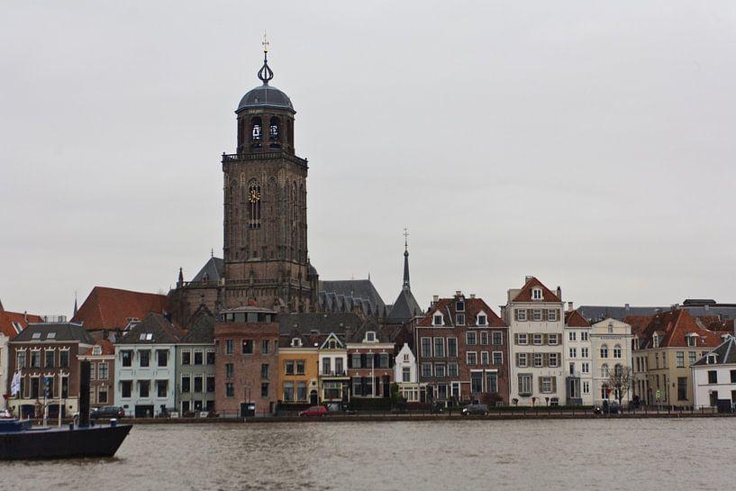 Zicht op Deventer van Jim van Iterson