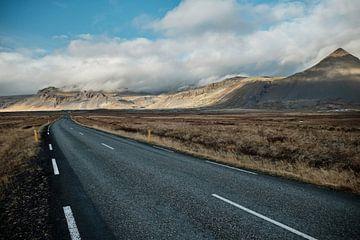 Endlose Straßen in Island von Melissa Peltenburg