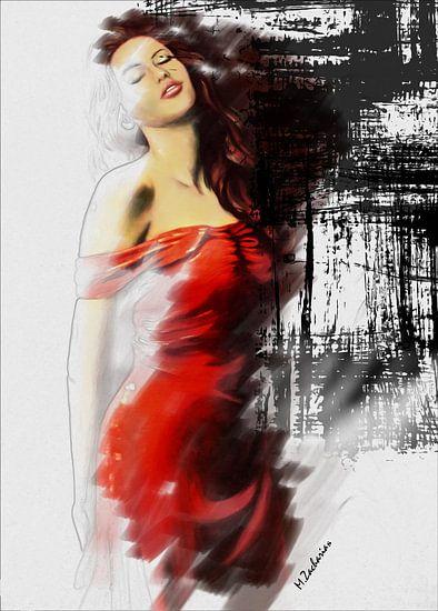 De mooie muze - erotic Art van Marita Zacharias