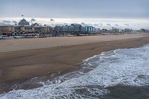 De kustlijn van Scheveningen