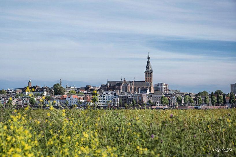 Nijmegen skyline van Roland Zimmermans
