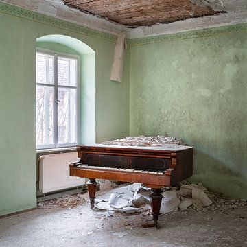 Piano abandonné dans le coin. sur Roman Robroek