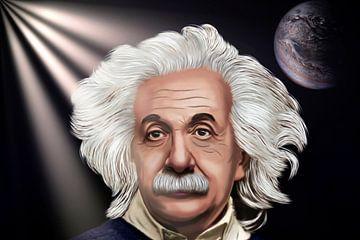 Karikatur von Albert Einstein. von Gert Hilbink