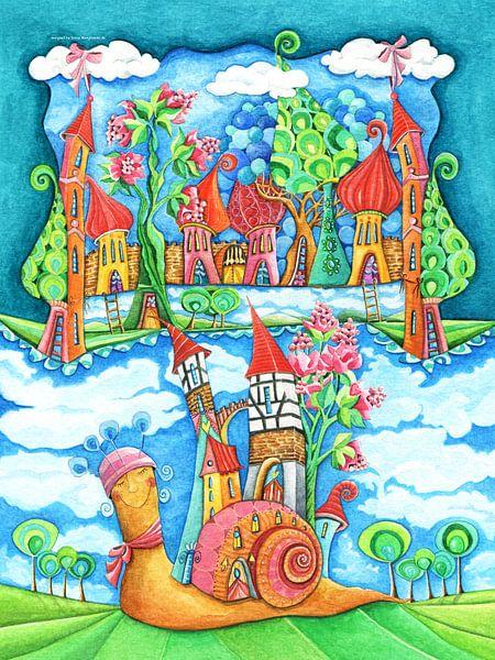Slakkenhuis - Kunst voor kleine Prinsen en Prinsessen van Atelier BuntePunkt