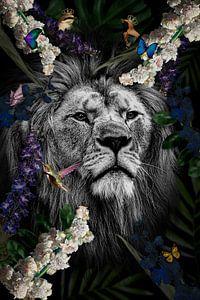 Löwe im Kunstwerk von John van den Heuvel