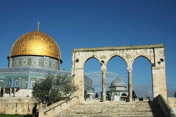 Mosquée du dôme du rocher à Jérusalem. Le sanctuaire du monde musulman est une mosquée avec une coup sur Michael Semenov