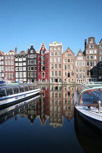 Damrak Amsterdam with canal house van Bart-Jan Seelen