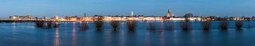 Panorama auf der IJssel bei Hochwasser von Daan Kloeg