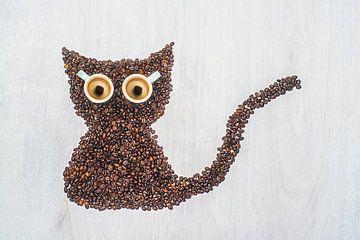 Meow, I'm a coffee cat. von Elianne van Turennout