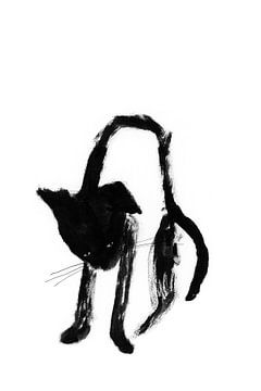 Zwarte kat van Corine Teuben