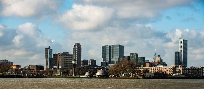 De Skyline van de stad Rotterdam van Brian Morgan