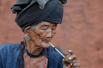 Vrouw, Keng Tung, Myanmar (Birma) van Jeroen Florijn