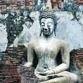 Zittende Boeddha Thailand van Anouschka Hendriks
