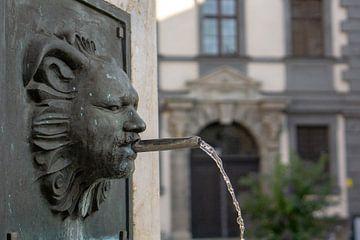 Georgsbrunnen in Augsburg van Melanie Jahn