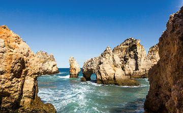 Ponta da Piedade an der Algarve in Lagos, Portugal von Frank Herrmann
