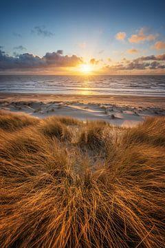 Zonsondergang bij het strand van Castricum