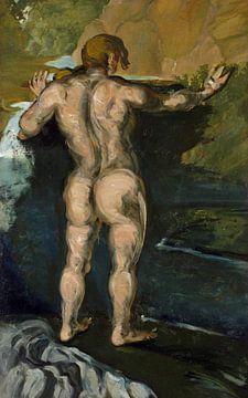 Paul Cezanne, Bader und Felsen- 1860-1866