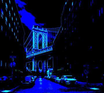 Washington St. & Manhatten Bridge von Dusan Pintner