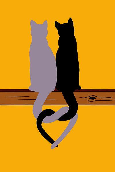 Lief katten duo van MishMash van Heukelom