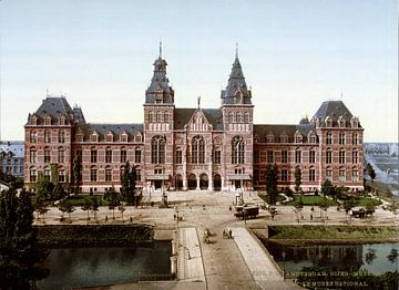 Rijksmuseum Amsterdam - vintage foto gezien vanaf de Stadhouderskade von Roger VDB