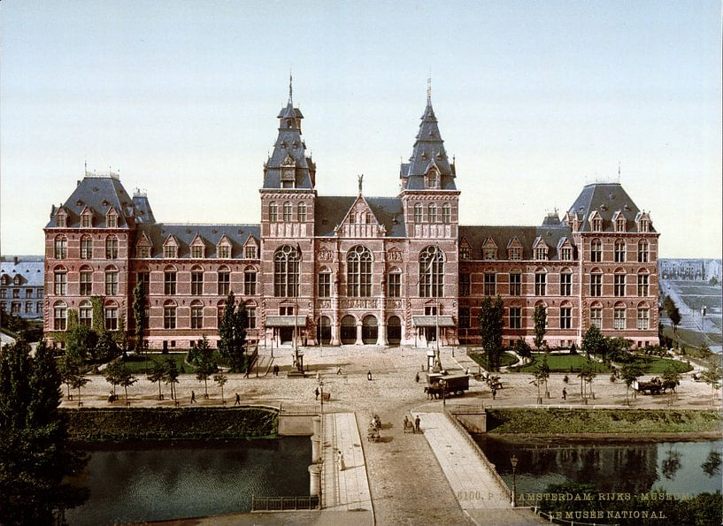 Rijksmuseum Amsterdam - vintage foto gezien vanaf de Stadhouderskade van Roger VDB