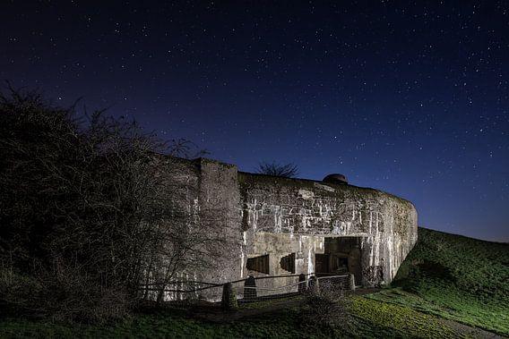 Maginot bunker bij heldere sterrenhemel