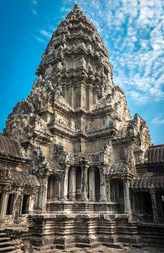 Turm des Angkor Wat Tempels, Kambodscha von Rietje Bulthuis