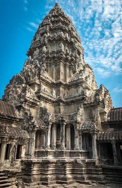 Toren van de Angkor Wat tempel, Cambodja van Rietje Bulthuis