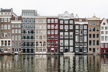 Häuser am Damrak in Amsterdam von Noé Pierre