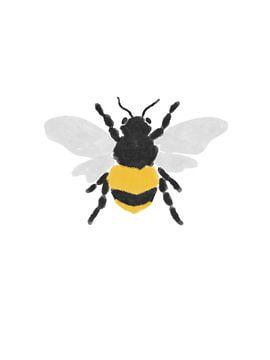 Abstrakte Illustration einer Biene von Sophia Amend