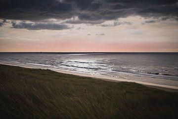 Dutch dunes ocean view van Sandra Hazes
