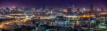 Panorama der Skyline von Bangkok von Jelle Dobma