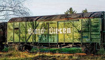 Oude Bierwagon op Station Simpelveld van John Kreukniet
