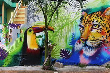Wandmalerei Mexiko von Berg Photostore