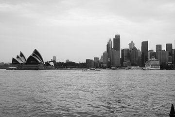 Skyline Sydney Zwart Wit van Sander van Klaveren