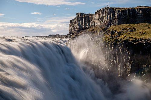 De imposante Dettifoss in Noord West IJsland van