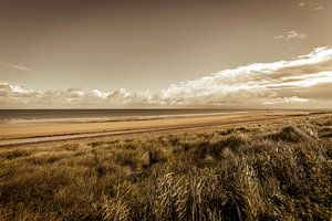 Strand kust Normandie Frankrijk