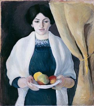 Portrait aux pommes, August Macke