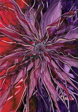 Paarsrode bloem van Bethina de Reus