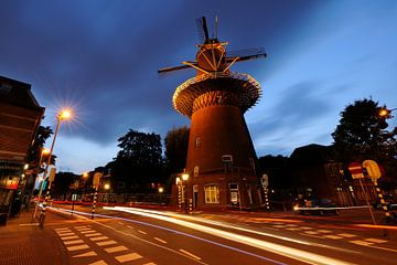Windmühle Rhein und Sonne in Utrecht (1) von Donker Utrecht