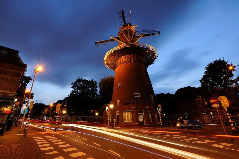 Molen Rijn en Zon in Utrecht (1) van Donker Utrecht