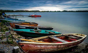 Boote am See von Eduard Martin