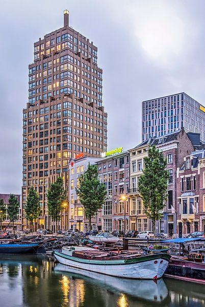 Rotterdam au crépuscule sur Frans Blok