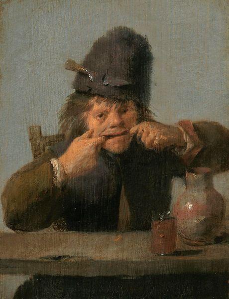Junge zieht ein verrücktes Maul, Adriaen Brouwer. von Meesterlijcke Meesters
