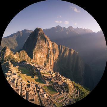 Machu Picchu Panorama 2:1 - zonder mensen van Vincent Fennis