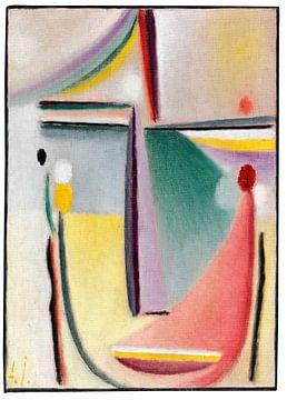 Abstract hoofd, Alexej von Jawlensky, ca 1921 van Atelier Liesjes